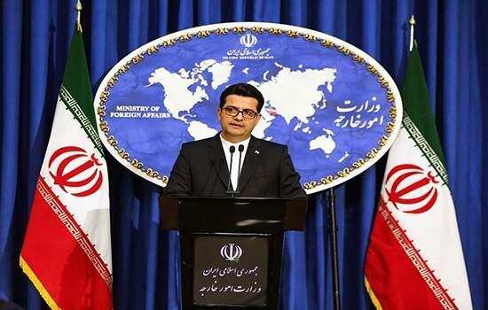 O porta-voz do Ministério das Relações Exteriores do Irã, Abbas Mousavi