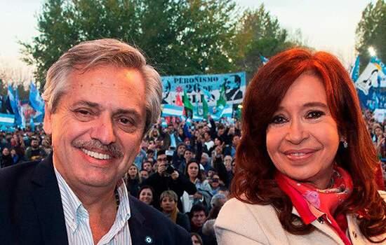 A chapa de Oposição na Argentina formada pelo candidato à presidência Alberto Fernández e pela vice Cristina Kirchner