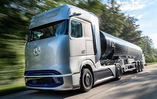 Caminhão a hidrogênio Mercedes-Benz GenH2 Truck