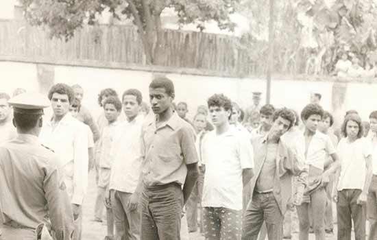 Pátio da cadeia de Camanducaia, outubro de 1974