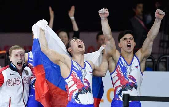 Equipe russa é ouro na disputa masculina no Mundial de Ginástica após 28 anos