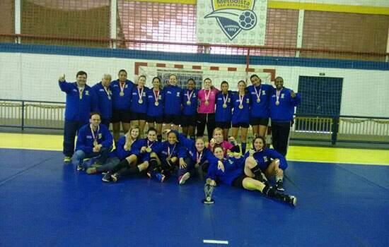 Equipe de handebol feminino obteve o primeiro lugar nos Jogos Regionais de São Bernardo: título garantiu melhor classificação de Santo André no geral