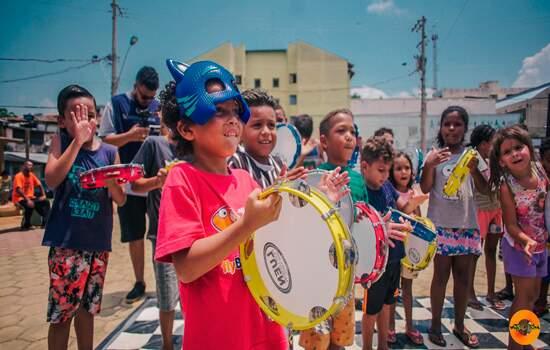 Instituto Matéria Rima leva arte e alegria para ruas e praças de Diadema nas férias de julho