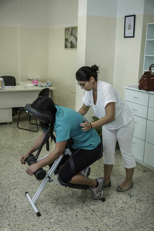 Munícipes poderão dar uma relaxada com a Quick Massage