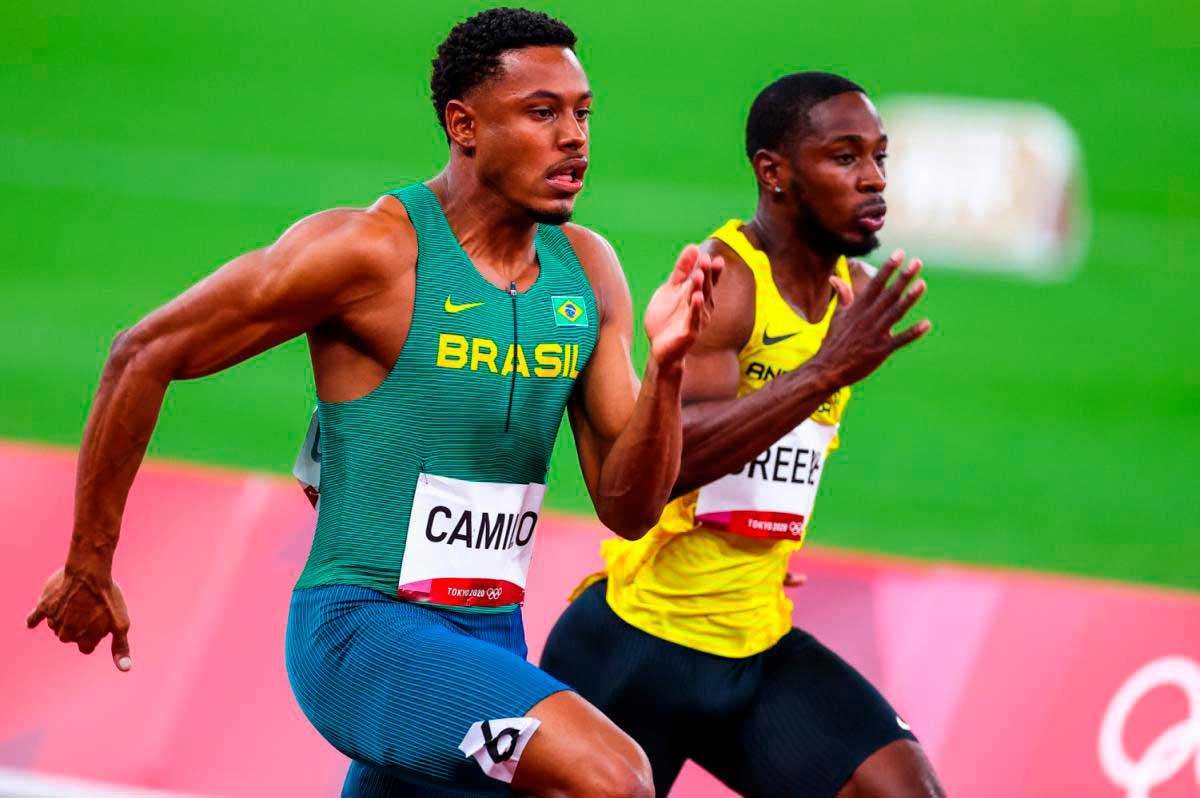 Paulo André avança às semifinais dos 100 m