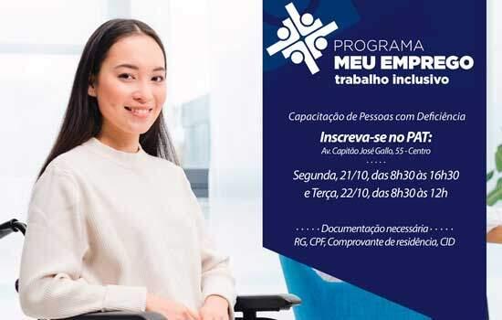 Prefeitura de Ribeirão Pires abrirá inscrições para cursos profissionalizantes para pessoas com deficiência