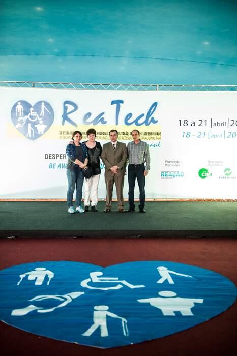 Secretaria das Pessoas com Deficiência de São Caetano participam da abertura da 12ª Reatech
