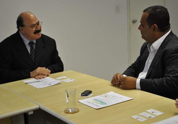 Prefeito Saulo Benevides e secretário de Desenvolvimento Econômico, Ciência e Tecnologia em exercício no Estado de São Paulo, Luiz Carlos Quadrelli