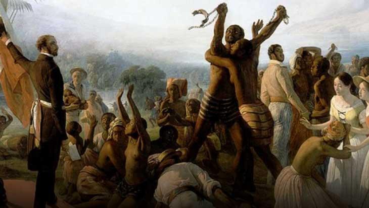 A abolição da escravatura (1849) por François-Auguste Biard