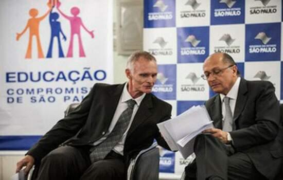 Alckmin e seu secretário da Educação, Herman Voorwald