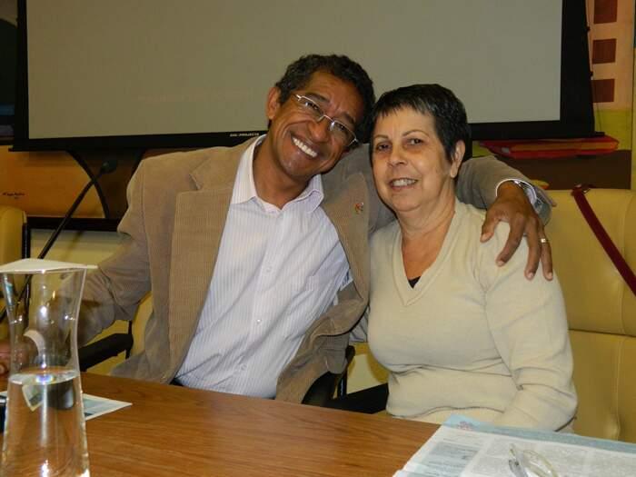 Ana do Carmo e deputado federal Vicentinho