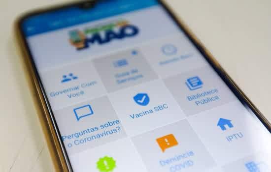 Cadastro para recebimento das doses pode ser feito pelo aplicativo SBC na Palma da Mão