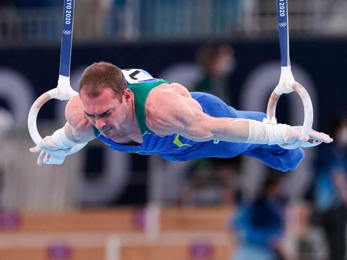 Arthur Zanetti disputa a qualificação nas Olimpíadas de Tóquio