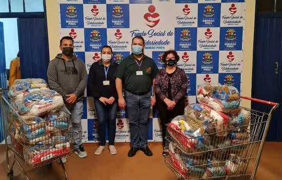 Foi a maior doação de cestas básicas realizada este ano