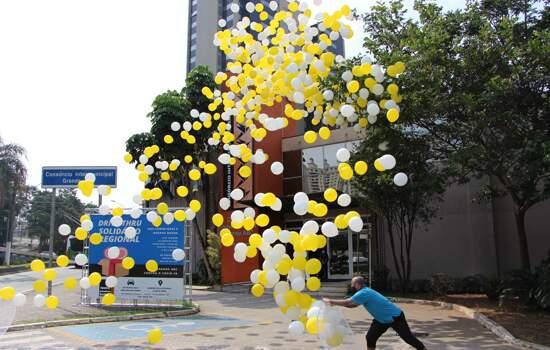 Com balões de gás hélio, Grande ABC encerra atividades da Semana Nacional de Trânsito