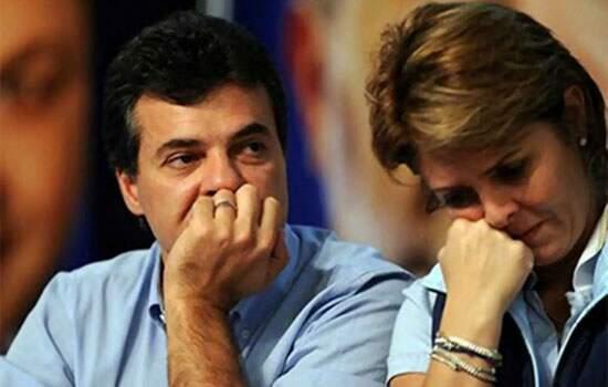 Beto Richa (PSDB) e sua esposa Fernanda Richa