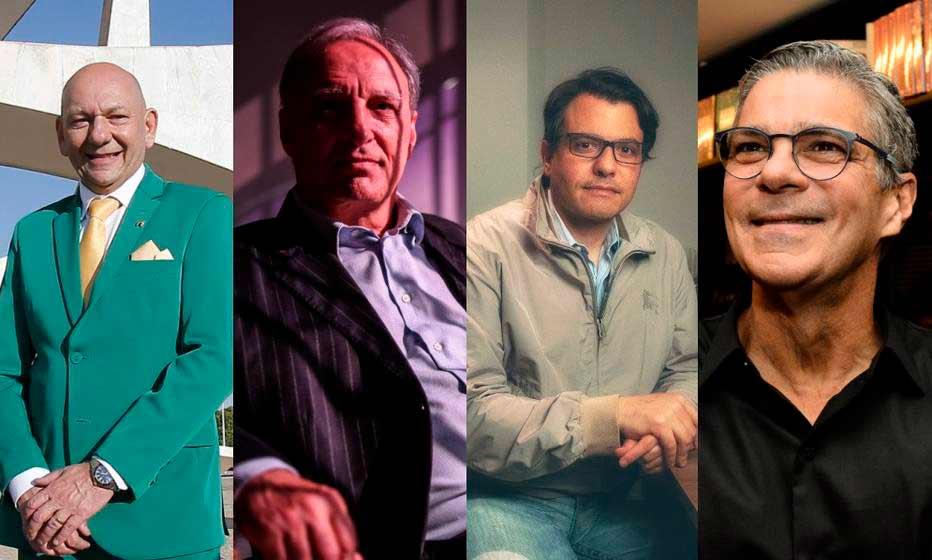 Da esquerda para a direita, os empresários Luciano Hang, Luís Felipe Belmonte, Otávio Oscar Fakhouri e Edgard Corona