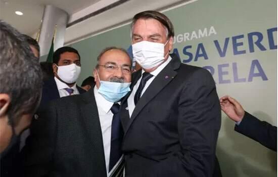 Bolsonaro com Chico Rodrigues, vice-lider do governo