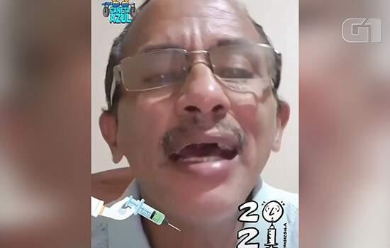 """Cantor de Caneta Azul laná novo """"hit"""": Vamos vacinar"""