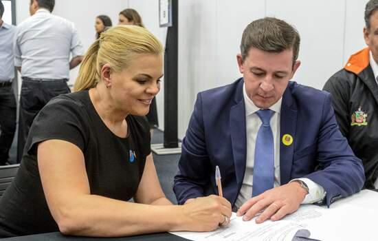 Prefeito Orlando Morando e deputada Carla Morando