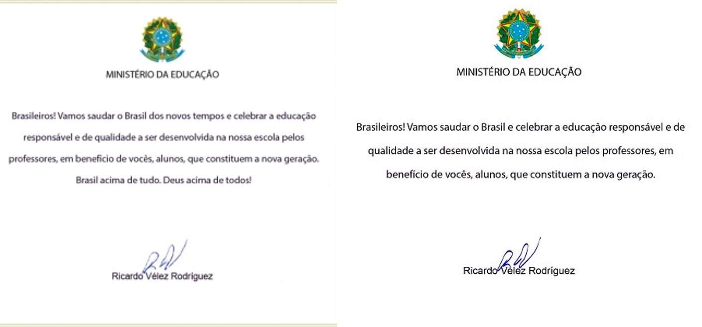 Vélez é investigado por carta às escolas que continha slogan da campanha de Bolsonaro, que foi trocada após repercussão negativa