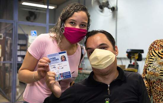 Santo André realiza cadastro para permitir que pessoas com deficiência circulem sem máscara