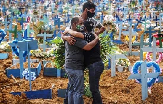 O Brasil 1.039 novas mortes média semanal subiu 1.918, alta, reflexo f;exibilizaçã, aglomerações, 35.888 novas infecções, 436.862 mortos e 15.661.106 casos
