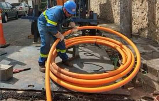 Tubos de PEAD são utilizados nos programas de renovação de rede e novas expansões da Comgás