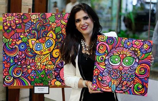 """Cores Indeléveis"", reúne 25 obras da artista plástica Joana Diggle"