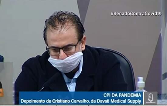 Representante da Davati, Cristiano Carvalho, depõe na CPI da Covid
