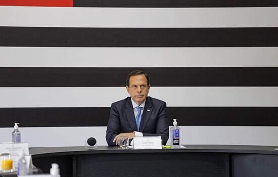 Doria ,anunciou uma teleconferência entre os 27 governadores de Estados e do DF