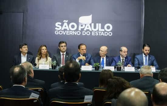 Governador do Estado de São Paulo, João Doria em Coletiva de imprensa sobre Davos