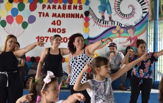 E.M. Tia Mariinha, de Ribeirão Pires, celebra 40 anos com a comunidade