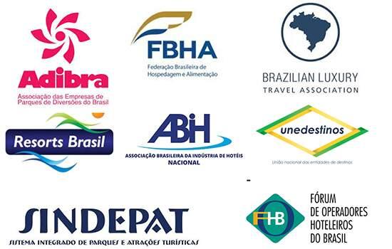 Empresas de turismo que assinam a carta aberta ao governo alertando sobre possibilidade de demissões