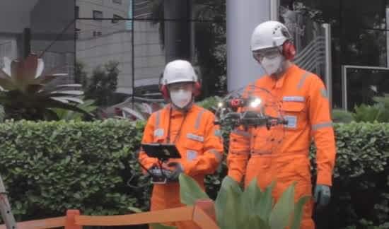 Drone grava toda a inspeção, e imagens geradas são usadas para análise adicional