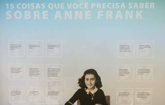 Exposição Aprendendo com Anne Frank na biblioteca Érico Veríssimo