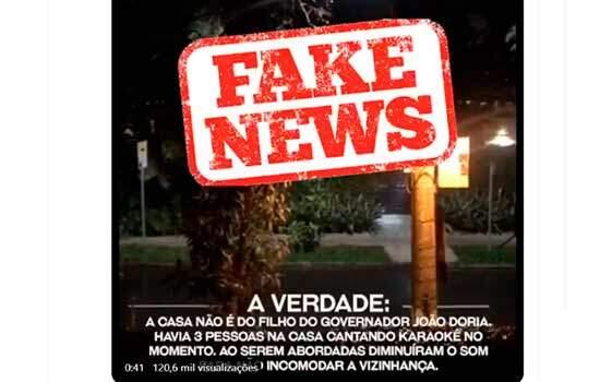 """João Doria chamou o registro de """"Fake News"""" nas redes sociais"""