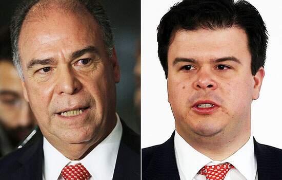 O senador Fernando Bezerra (MDB-PE), líder do governo no Senado, e seu filho, o deputado Fernando Bezerra Filho (DEM-PE)