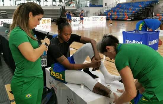 Fisioterapeuta de São Bernardo acompanha atletas da seleção brasileira de basquete feminino