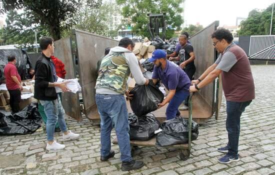 Santo André realiza fragmentação de documentos