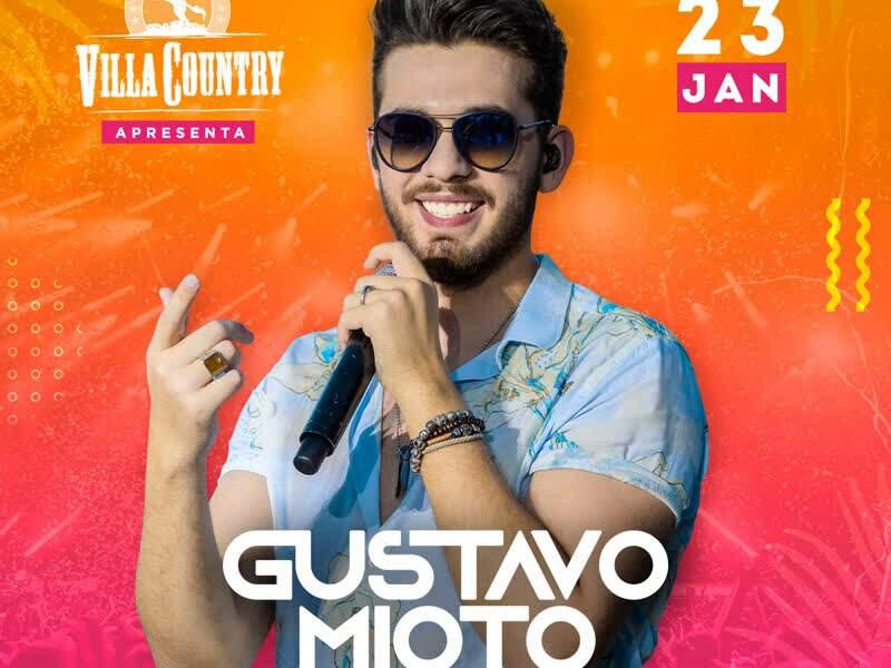 Eventos em Especial - No dia 23 de janeiro de 2020, Gustavo Mioto volta aos palcos do Villa Country para uma apresentação...