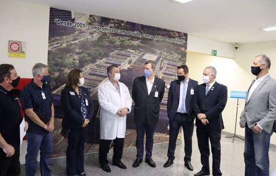 Hospital Mário Covas recebe do Rotary doação de 8 mil itens para prevenção ao coronavírus