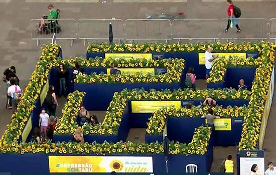 Labirinto amarelo, conscientização sobre depressão e suicídio