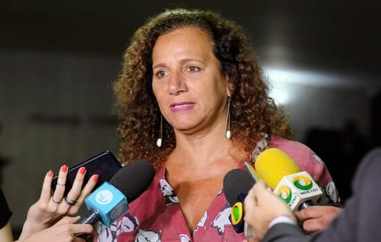 Deputada Jandira Feghali, líder do Minoria na Câmara dos Deputados