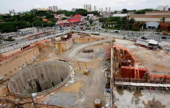 Obras da Linha 4 do metrô de São Paulo