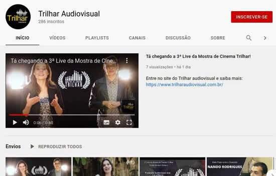 Live será transmitida no canal oficial do Trilhar no Youtube, com participação de cineasta e diretor de fotografia