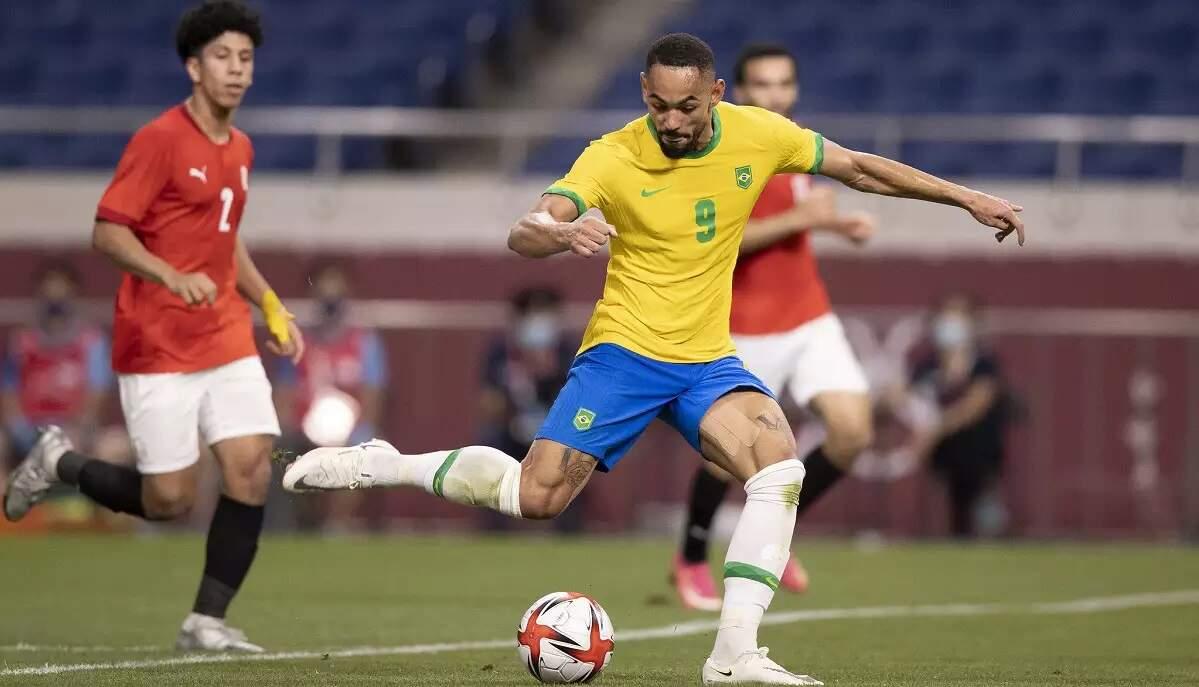 Atacante Matheus Cunha marcou o gol da vitória do Brasil sobre o Egito