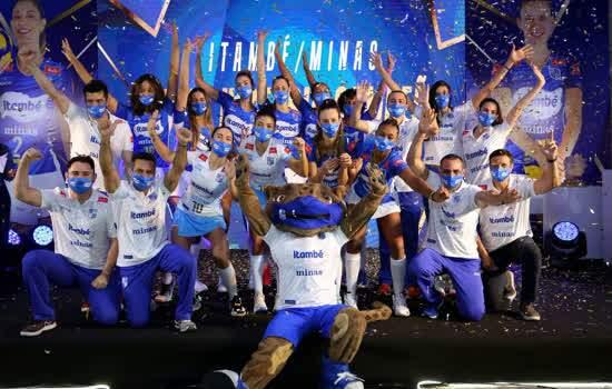 Itambé/Minas durante lançamento da equipe para temporada 21/22
