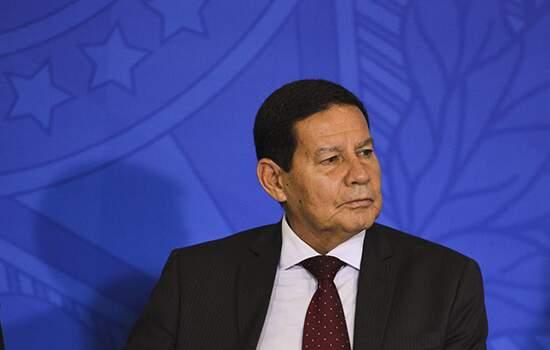 O Presidente em exercício, Hamilton Mourão participou de evento com empresários chineses