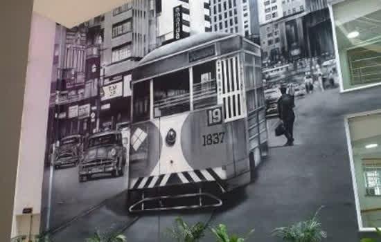 Mural de 850m² instalado na sede do CRCSP homenageia história de São Paulo